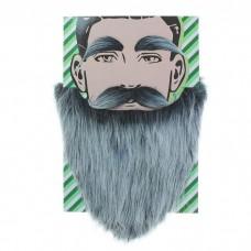Борода Седая с усами и бровями