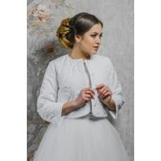 Курточка свадебная узор, белый