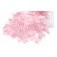 Лепестки бабочки розовые (набор150 шт) тканевые