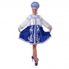 Русский женский костюм Гжель