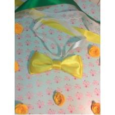 Галстук бабочка классика желтый