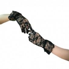 Перчатки Кружево черные