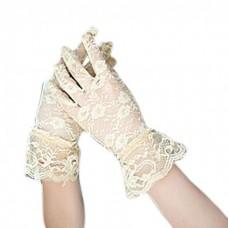 Перчатки Кружево бежевые