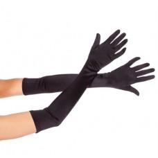 Перчатки Атлас длинные черные