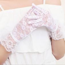 Перчатки Кружево белые