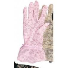 Перчатки Кружево розовые