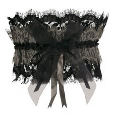 Подвязка, цвет чёрный с капучино №5413.260