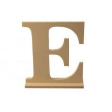 Деревянная буква *Е* 15x4x15.5см №5226.120
