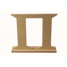 Деревянная буква *П* 17x4x15см №5259.120