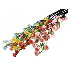 """Декоративная ветка """"Роза"""" 150 см (цена за шт), цвет: Желтый, Красный №5341.95"""