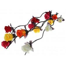 """Декоративная ветка """"Розы крупные"""" 160 см (цена за шт), цвет: Белый №5343.95"""
