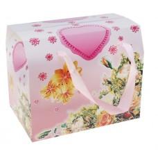 """Коробка сборная """"Цветы"""", розовый №5178.25"""