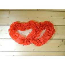 Два сердца для украшения квартиры, зала, стен, штор цвет: красный №4859.115