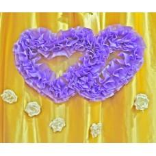 Два сердца для украшения квартиры, зала, стен, штор цвет: сиреневый №4861.115