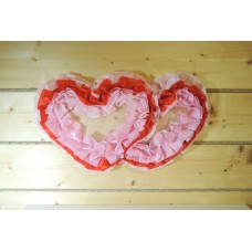 Два сердца для украшения квартиры, зала, стен, штор цвет: розовый с красным №4863.115
