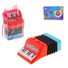 Аккордеон , 13 клавиш, без музыки, пластик, размер: 5 × 11 × 18 см, цвета в ассортименте №4719.145