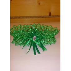 Подвязка зеленая SvetikFantasy, 6,8см  №4799.75