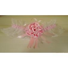 Подвязка белая с розовым SvetikFantasy, 5,6см  №4820.60