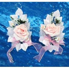 Букетики на ручку автомобиля  SvetikFantasy, бело-розовые,  9,5х16см, Цена за 2 штуки №4396.370