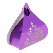 Коробка сборная 10х9х4 см капелька резная роза фиолетовая №4495.80