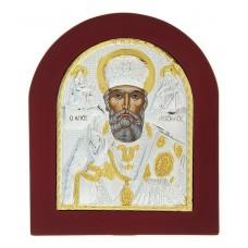 """Икона """"Николай Чудотворец"""" на дереве, на подставке, 1 х 11 х 13 см №4514.345"""