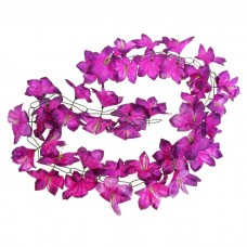 """Гирлянда """"Лилия"""" сиреневая, цветок искусственный, длина 2 метра №4523.130"""