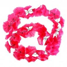 """Гирлянда """"Плюмерия"""" коралловая, цветок искусственный, длина 2 метра №4525.115"""