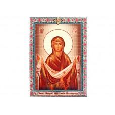 """Икона холст """"Покров Пресвятой Богородицы"""" на подвесе, 1,8 × 15 × 20 см №4537.66"""