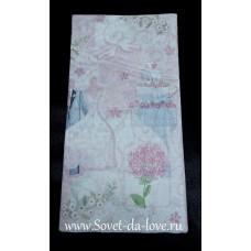 Скатерть Свадьба Romantic бумажная 1,4х2,6м №4273.103
