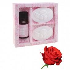 Набор подарочный Де Люкс роза (аромамасло 10 мл, подвеска гипс 2 шт) Ангелочек 3х10,5х10 см №4312.65