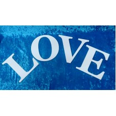 "Деревянное слово ""LOVE"", 19х70 см, цвет: белый №4362.470"