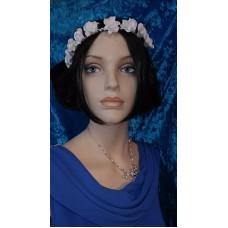 Венок для волос Розочки, резинка,  цвет:белый, айвори №4376.150