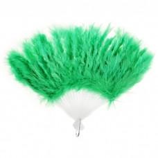 Веер пуховой цвет зеленый, 25см №4151.65