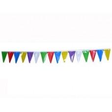 Гирлянда-вымпел разноцветная  Размер: 10м №4245.600