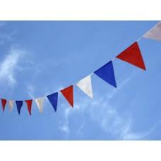 Гирлянда-вымпел Флаг - Бело-Сине-Красная  Размер: 10м №4246.600