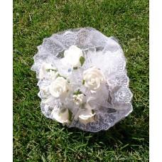Букет невесты Белый (Латекс)  №4265.190