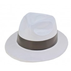 Шляпа белая с черным кантом, пластик, 31 × 27 × 11 см  №4003.136