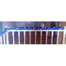 Лента для украшения спираль, атлас, 3 метра, цвет: бело/синяя №1623.225