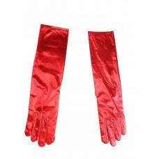 Перчатки красный блеск 40 см №3748.90