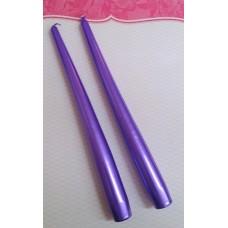 Набор свечей , 2 штуки, 2,0 х 24 см, цвет: фиолетовый, время горения 6 ч №3768.75