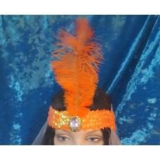 Головной убор Кабаре цвет: оранжевый  №3477.63