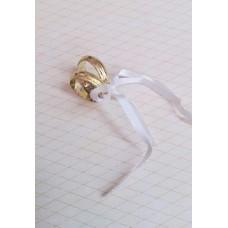Колечки 1,5см цвет: золото, материал: пластик №3591.5