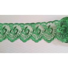 Кружево капроновое цвет: зеленый-изумруд  размер: 4,7 см №3598.117 (Цена за 1 метр)