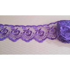 Кружево капроновое цвет: фиолетовый  размер: 4,5 см №3599.117 (Цена за 1 метр)