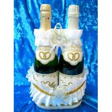 Корзина под шампанское Цвет: Белый №3375.130