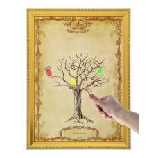 """Дерево свадебных пожеланий в рамке """"Совет да любовь"""", размер: 1,6 х 25,2 х 38 см №3420.400"""
