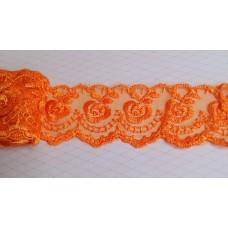 Кружево капроновое оранжевое  размер: 4 см №3170.113 (Цена за 1 метр)