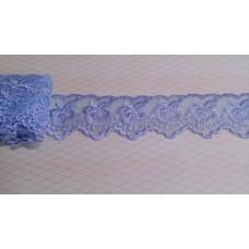 Кружево капроновое сиренево-голубое  размер: 3,5 см №3171.113 (Цена за 1 метр)