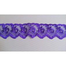Кружево капроновое цвет: фиолетовый  размер: 4 см №3174.113 (Цена за 1 метр)
