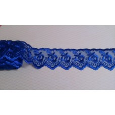 Кружево капроновое цвет: синий  размер: 4 см №3176.113 (Цена за 1 метр)